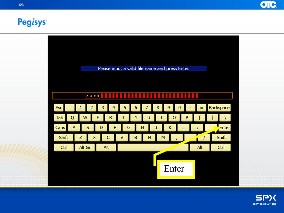123 Type the name of the file using the keyboard with your fingers and then press Enter to continue.