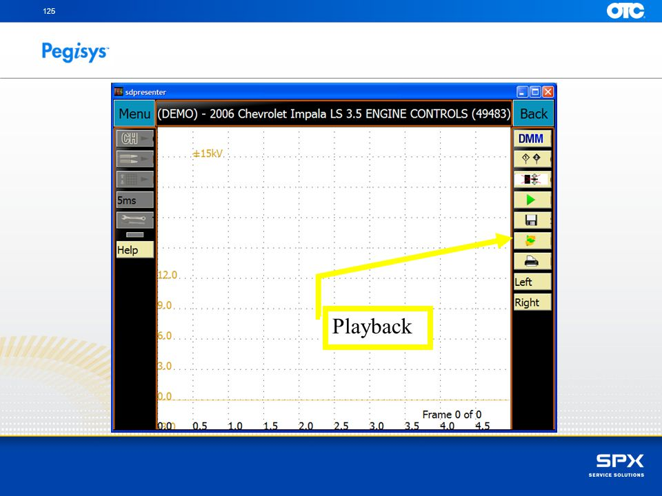 To playback a recorded file touch on the Playback icon