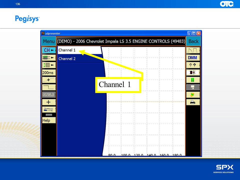 Touch Channel 1 tab to setup
