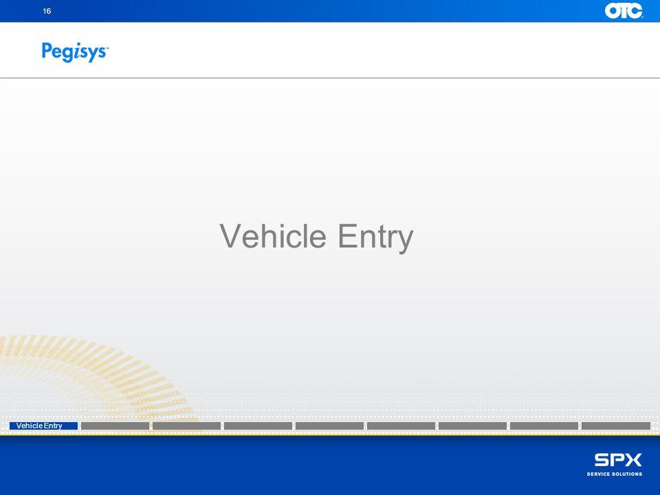 16 Vehicle Entry Vehicle Entry Vehicle Entry