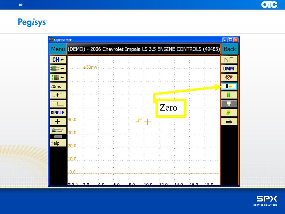 161 Zero To turn off the zero reference line adjustment tap on the Zero Reference line icon