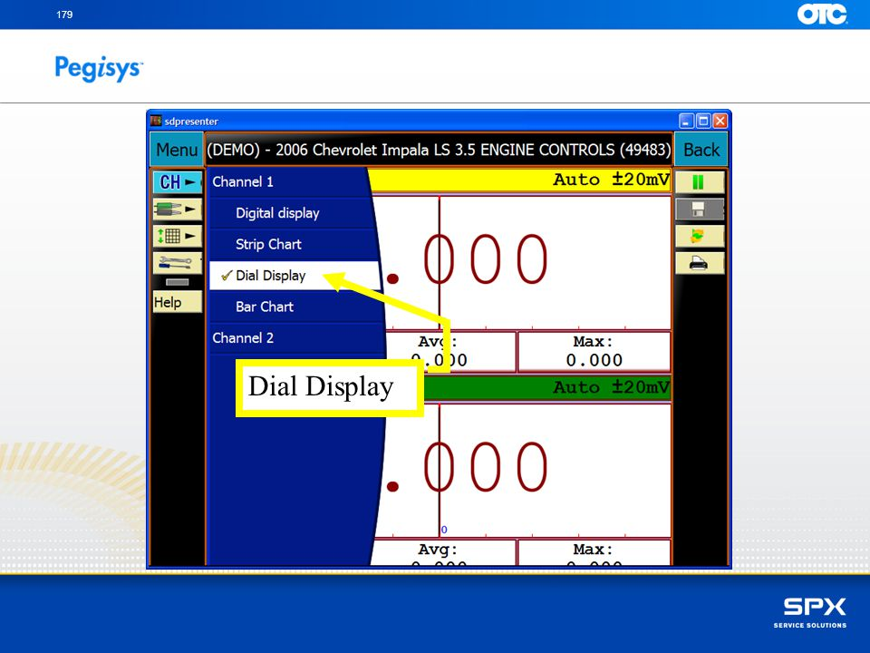 Touch on the type of Multi Meter display to use