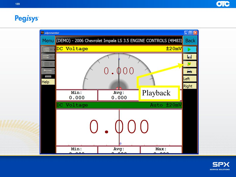 To review a recorded file touch on the Playback icon