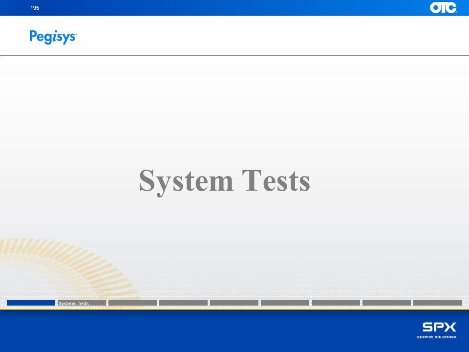 195 System Tests Systems Tests Systems Tests