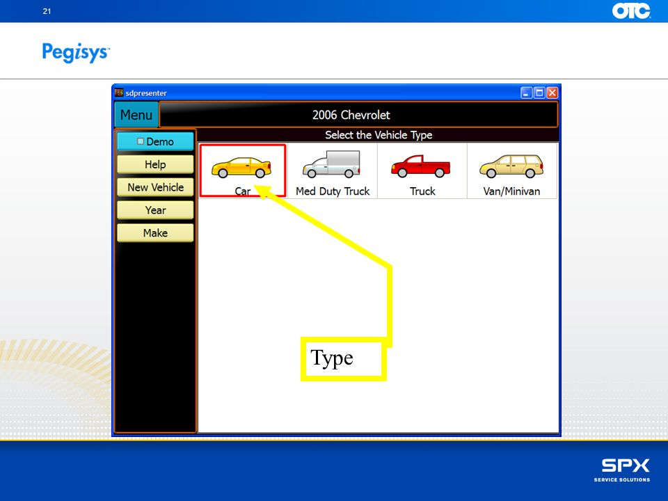 21 Select the Type - Car Type
