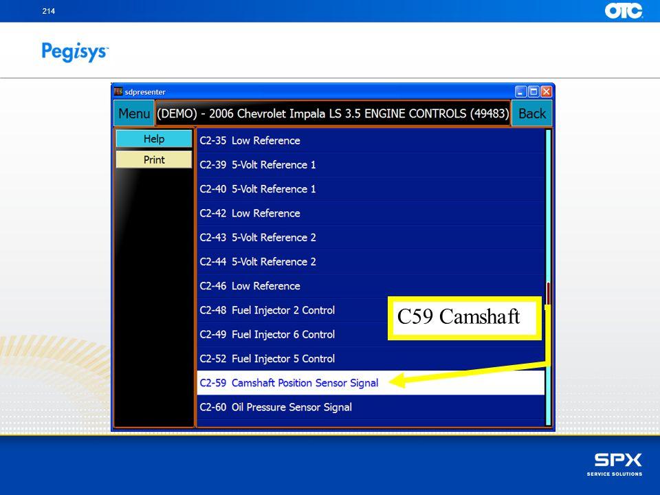 214 C59 Camshaft.
