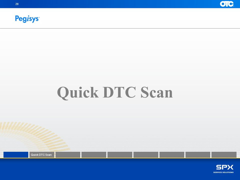 28 Quick DTC Scan Quick DTC Scan Quick DTC Scan