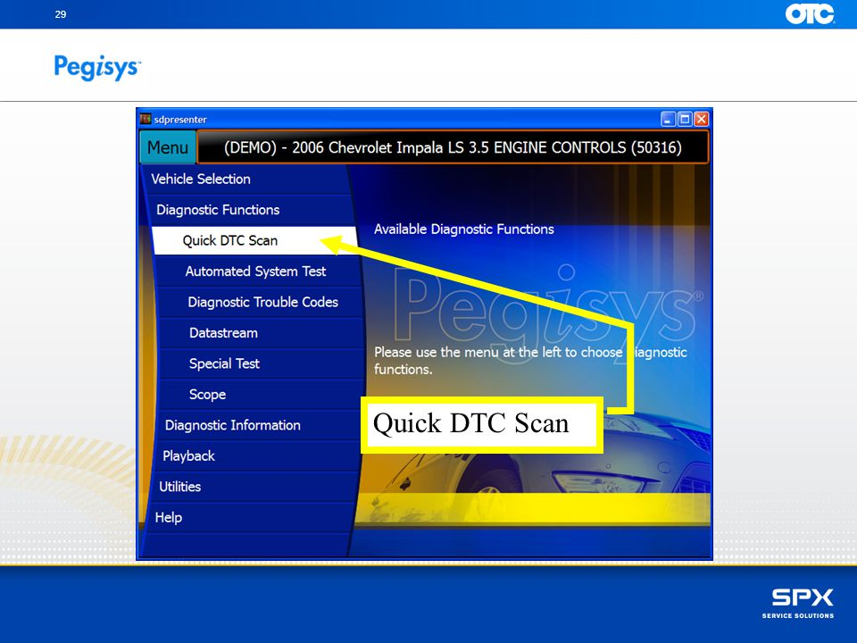 one click on Quick DTC Scan