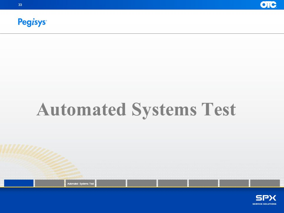 Automated Systems Test