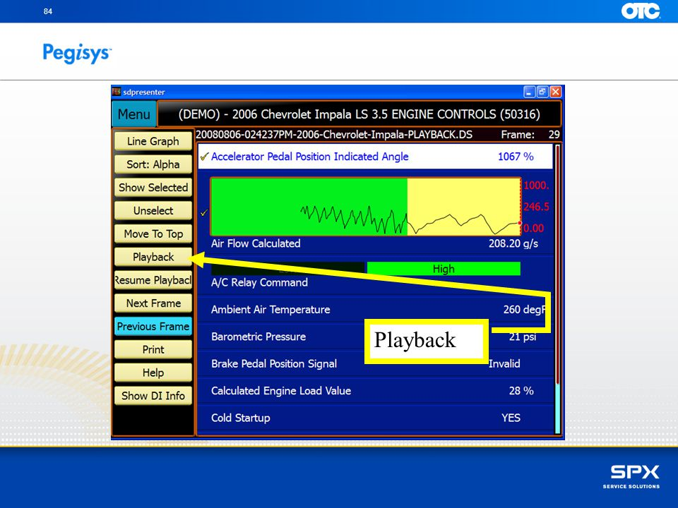 84 Touch on the Playback button to return to the recorded event selection page Playback