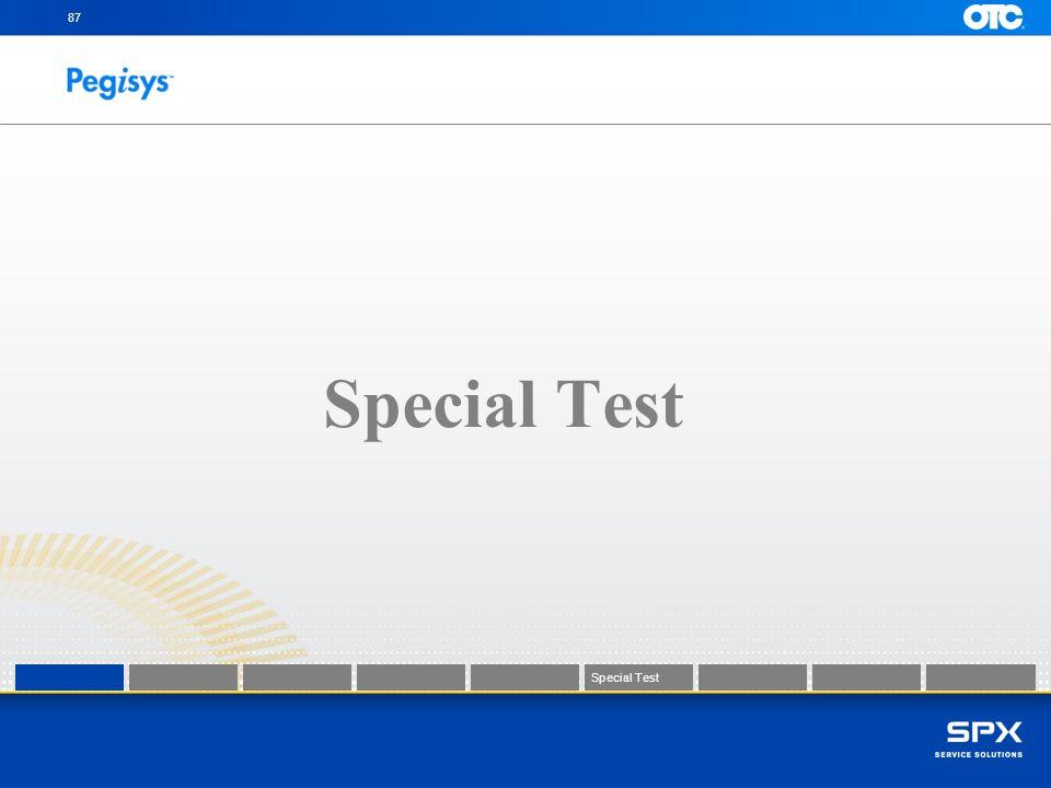 87 Special Test Special Test Special Test