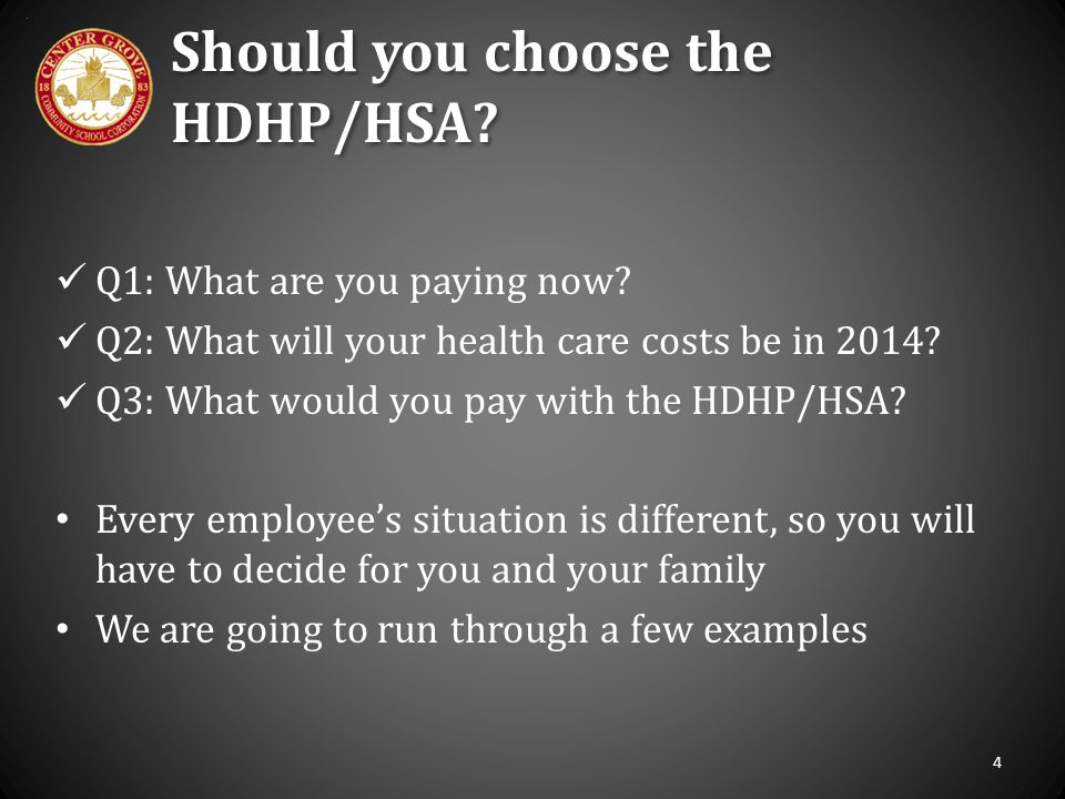 Should you choose the HDHP/HSA