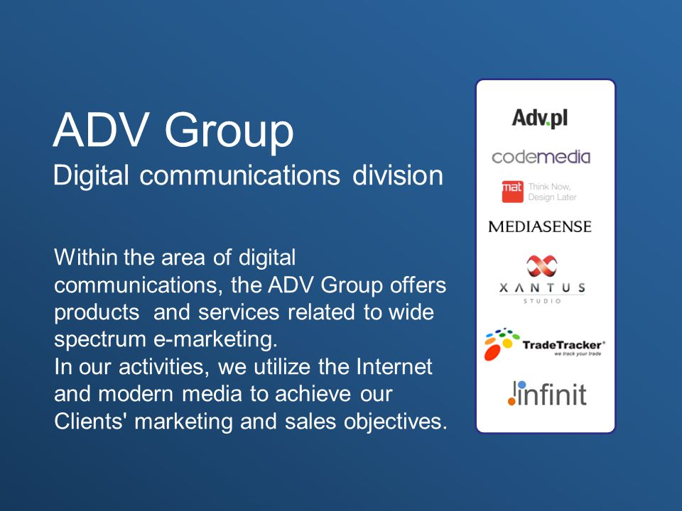 ADV Group Digital communications division