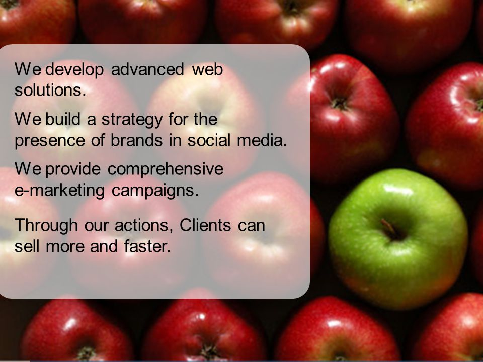We develop advanced web solutions.