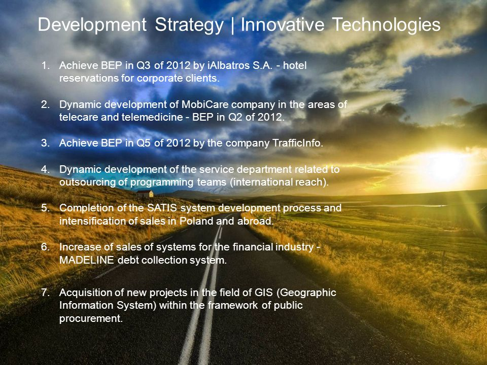 Development Strategy | Innovative Technologies