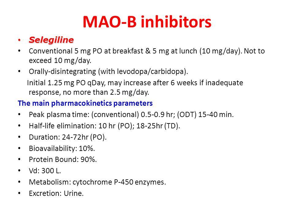 MAO-B inhibitors Selegiline