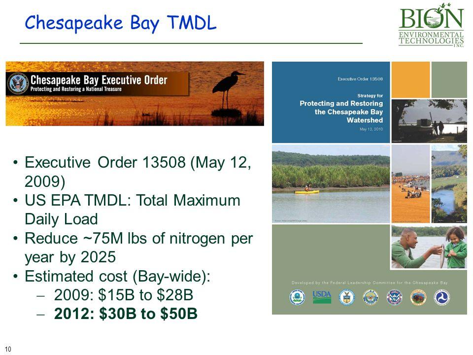 Chesapeake Bay TMDL Executive Order 13508 (May 12, 2009)