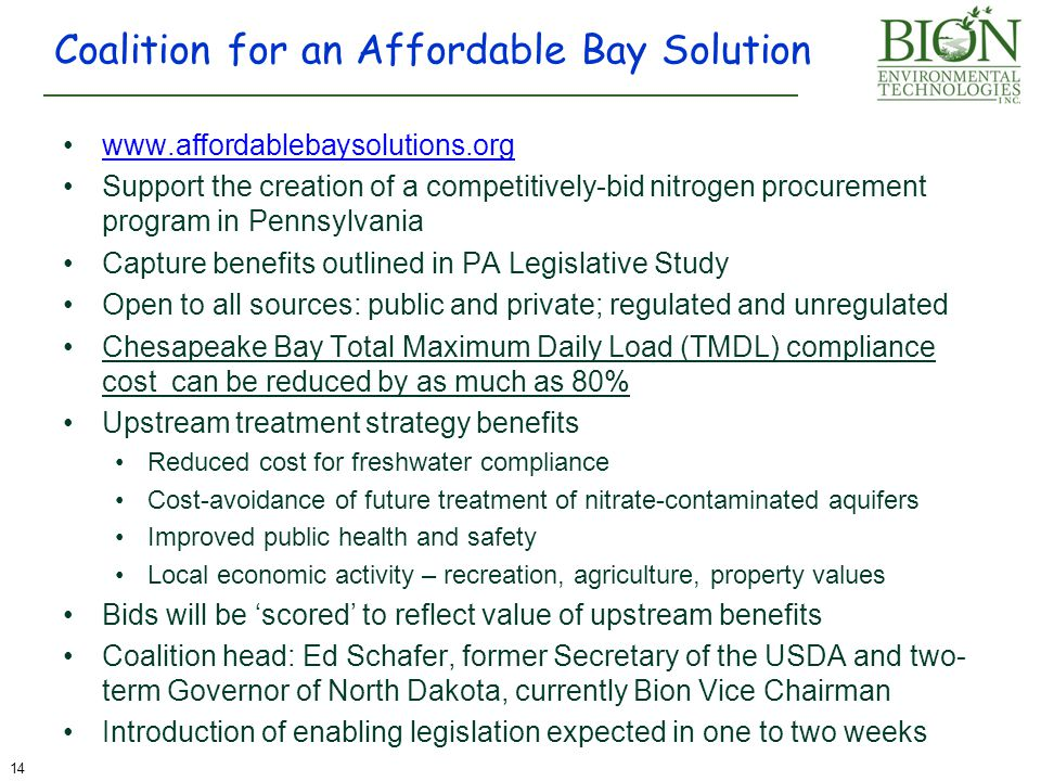 Coalition for an Affordable Bay Solution