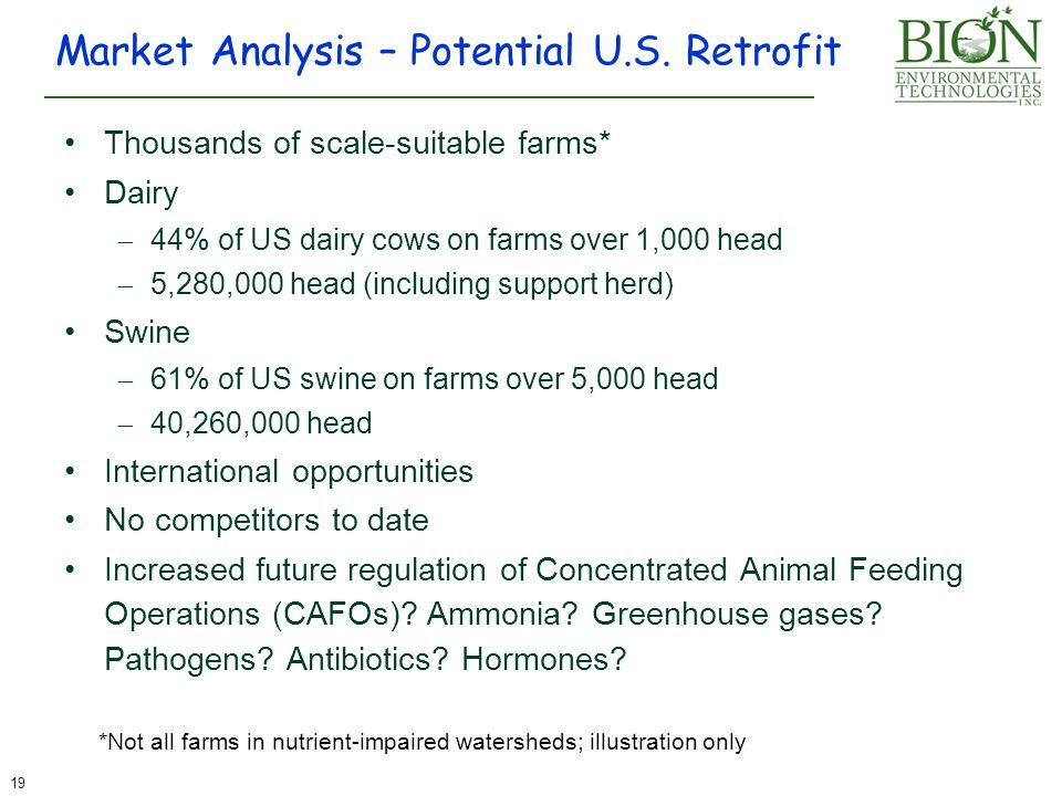 Market Analysis – Potential U.S. Retrofit