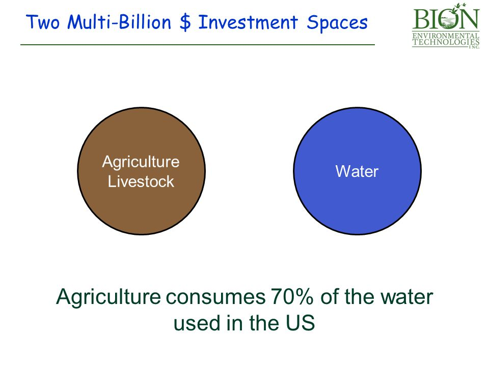 Agriculture consumes 70% of the water used in the US