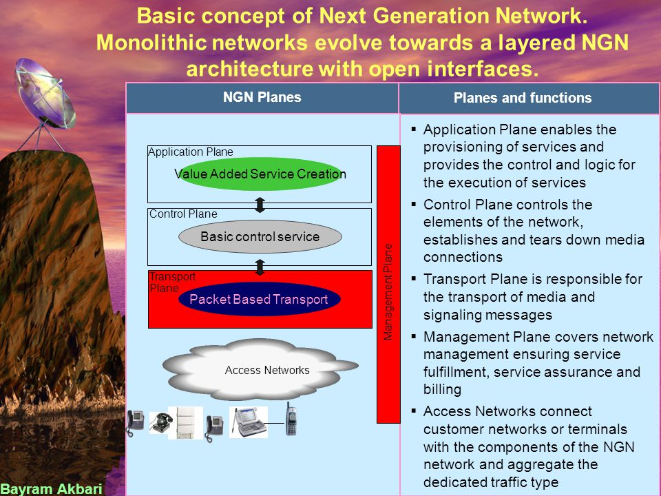 Next Generation Network Operator / provider benefits
