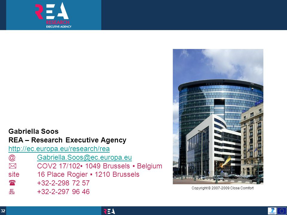 REA – Research Executive Agency