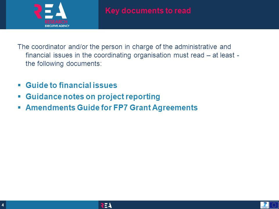 Guide to financial issues Guidance notes on project reporting