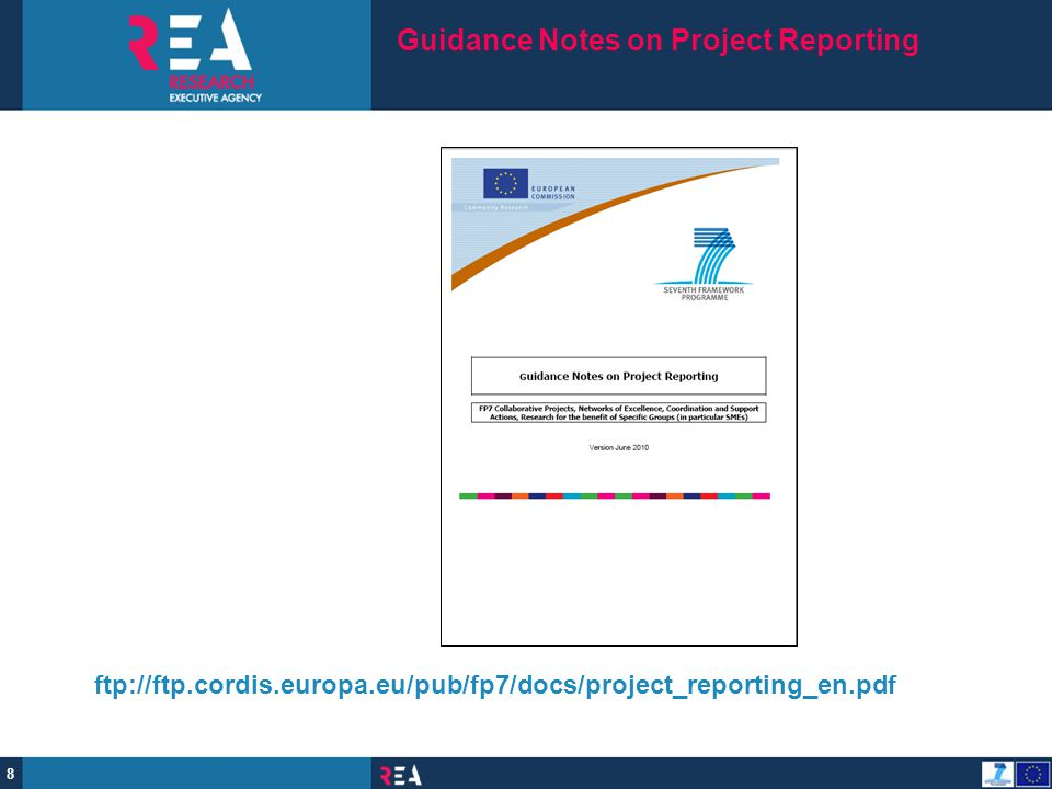 Guidance Notes on Project Reporting