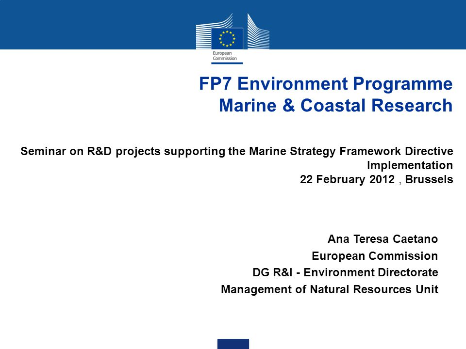 FP7 Environment Programme Marine & Coastal Research