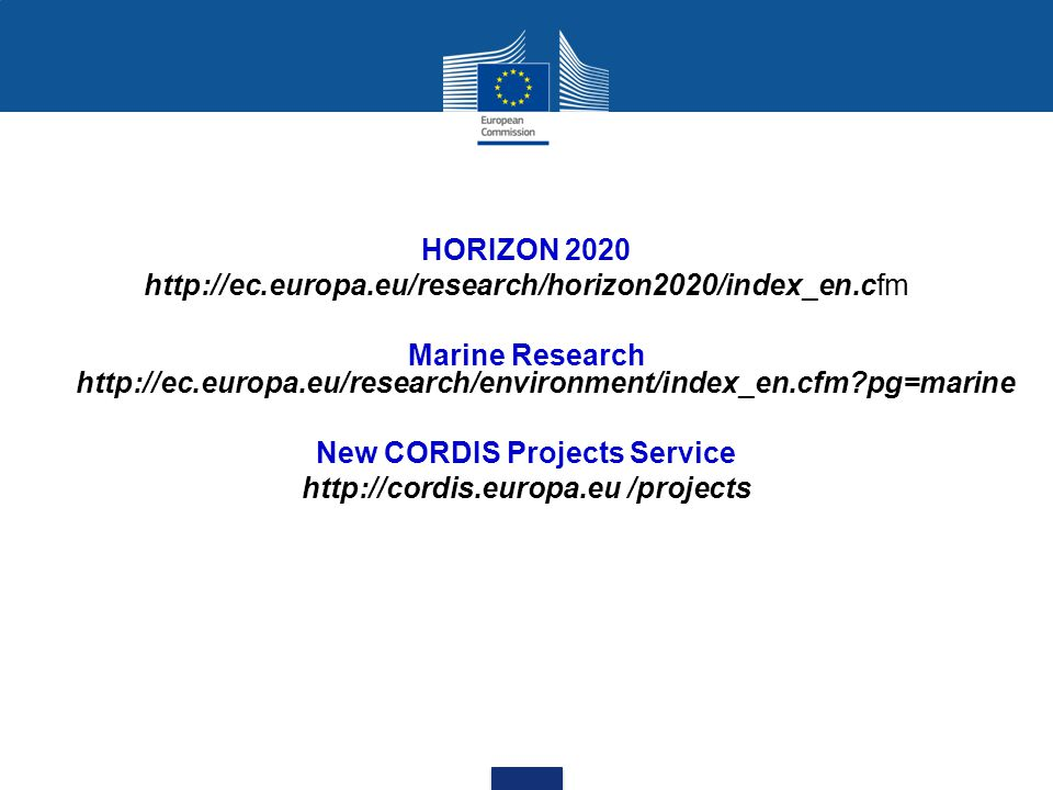New CORDIS Projects Service http://cordis.europa.eu /projects