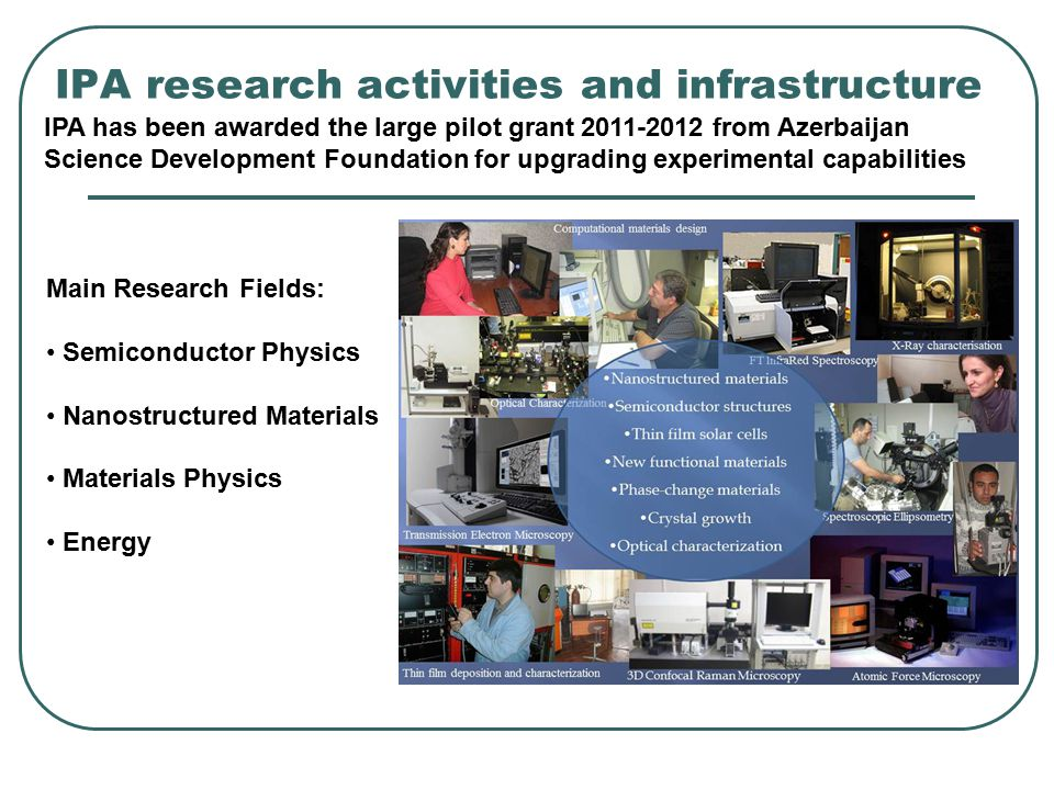 IPA research activities and infrastructure