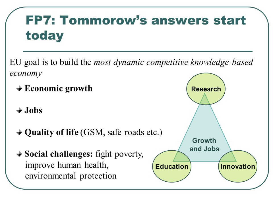 FP7: Tommorow's answers start today