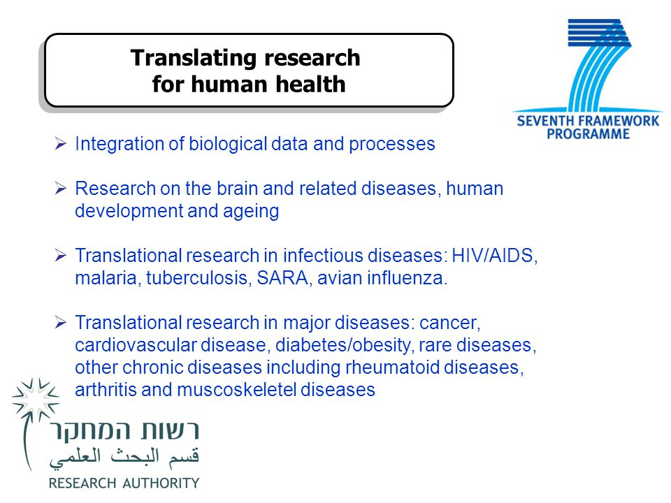 Translating research for human health
