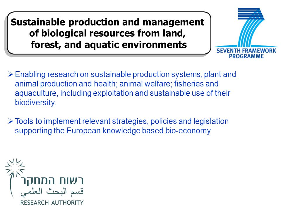Sustainable production and management