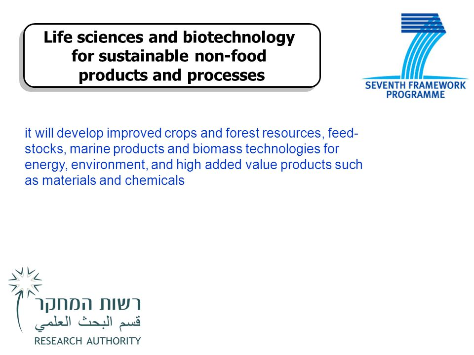 Life sciences and biotechnology for sustainable non-food