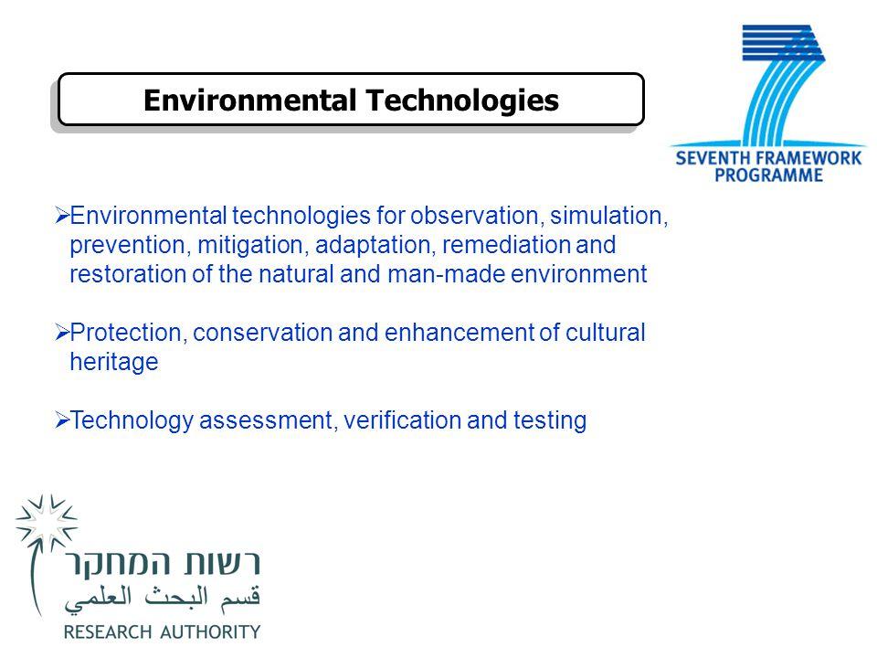 Environmental Technologies