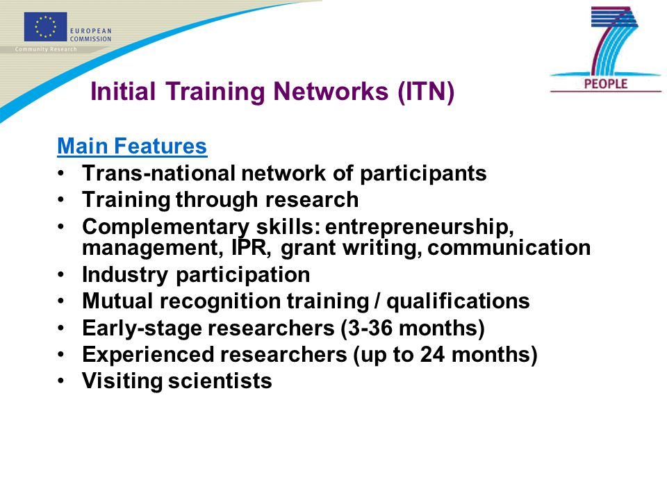 Initial Training Networks (ITN)