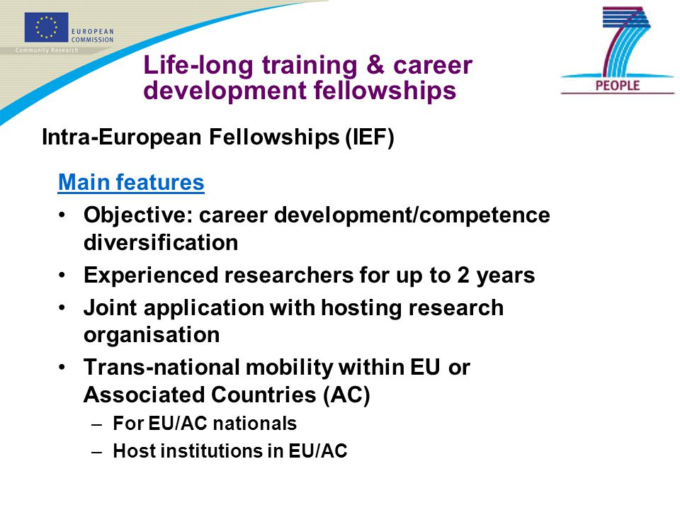 Life-long training & career development fellowships