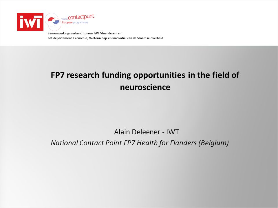 FP7 research funding opportunities in the field of neuroscience
