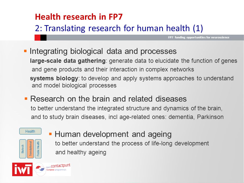 2: Translating research for human health (1)