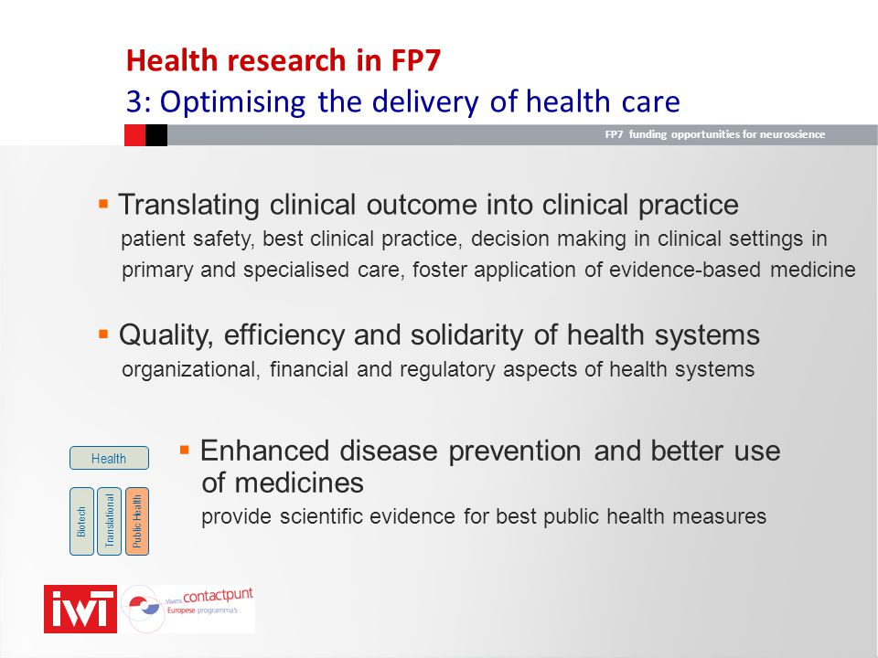 3: Optimising the delivery of health care