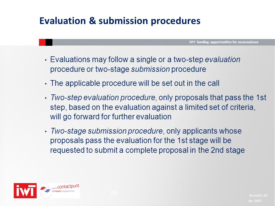 Evaluation & submission procedures