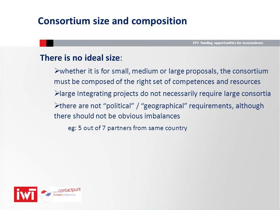 Consortium size and composition