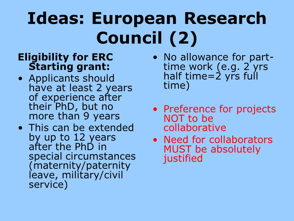 Ideas: European Research Council (2)