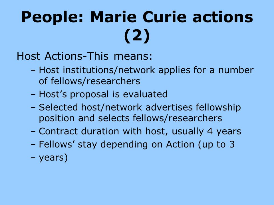 People: Marie Curie actions (2)