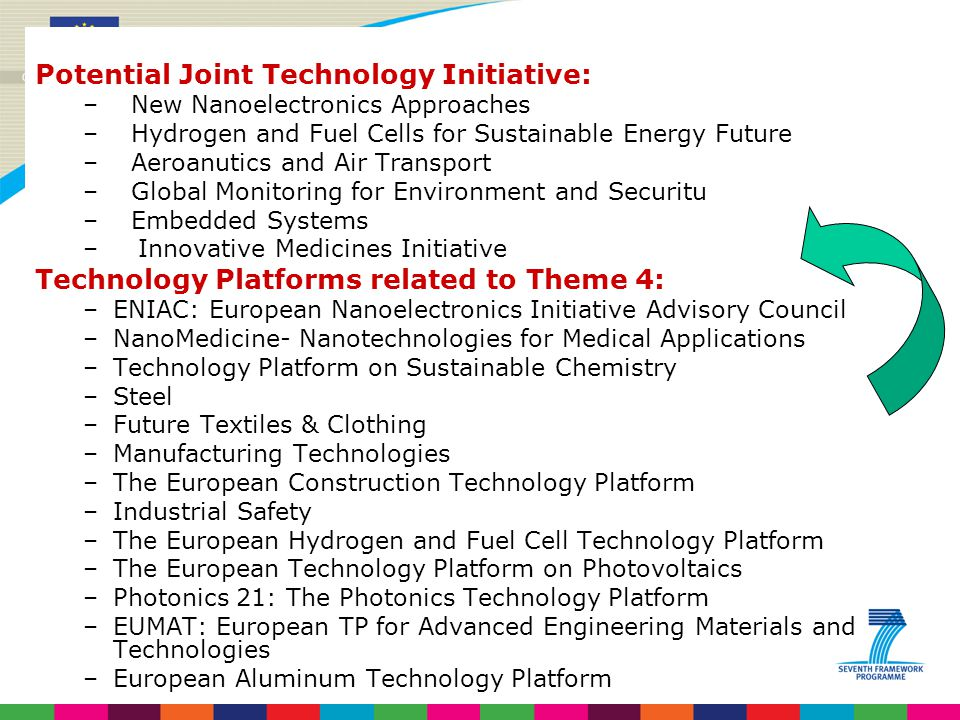 Potential Joint Technology Initiative: