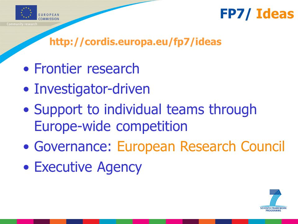 Support to individual teams through Europe-wide competition