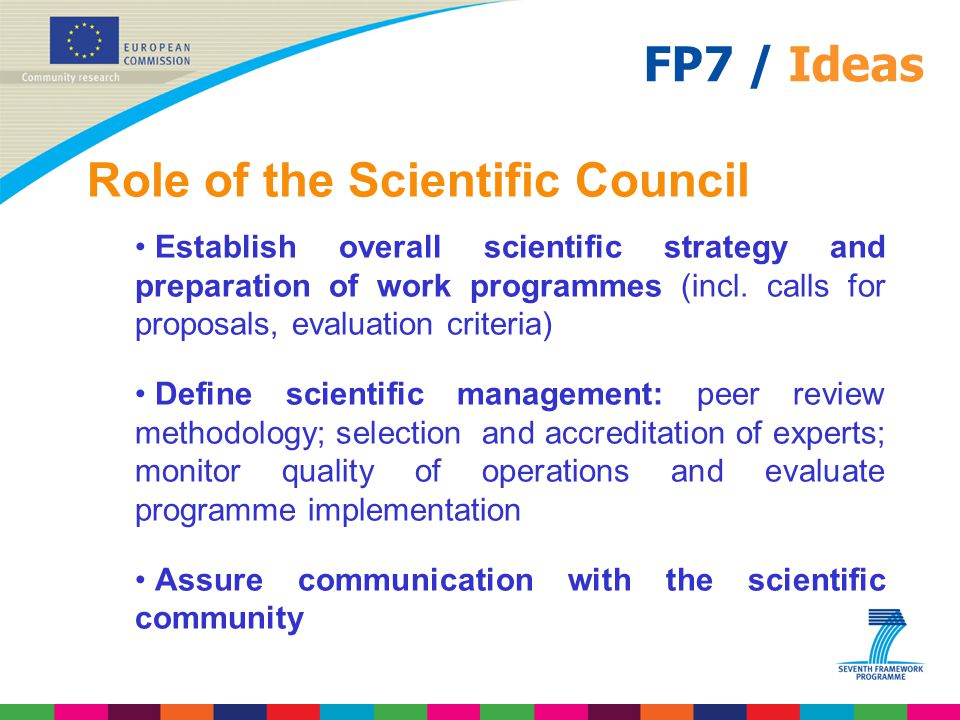 Role of the Scientific Council