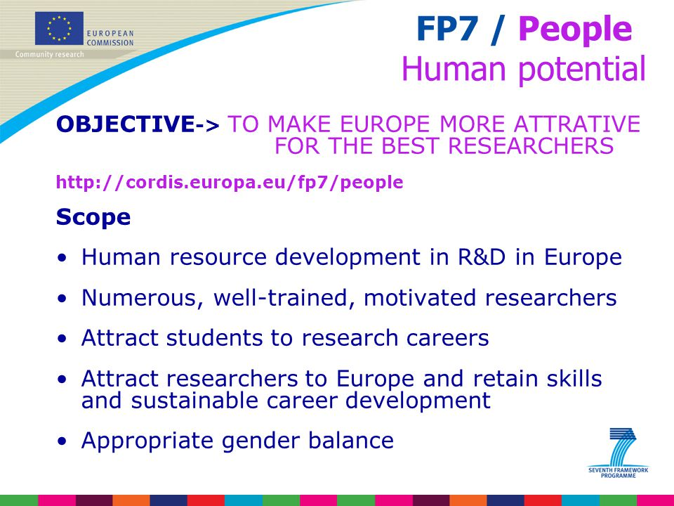 FP7 / People Human potential