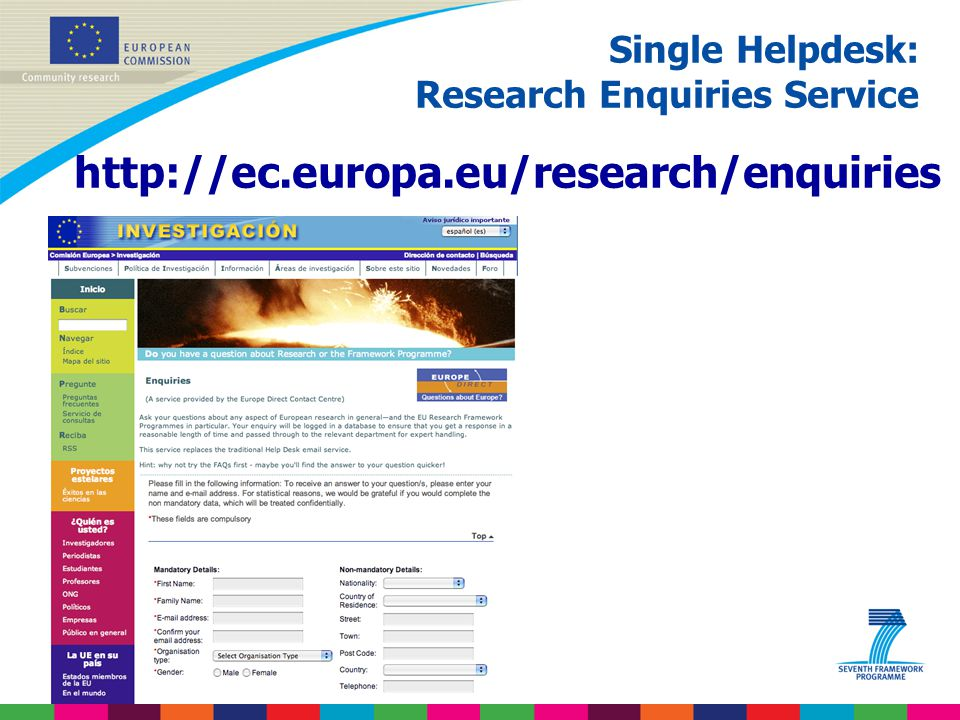 Single Helpdesk: Research Enquiries Service